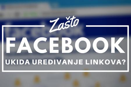 Facebook više ne dozvoljava da menjate linkove koje delite